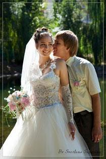 Букет невесты и бутоньерка из бисера