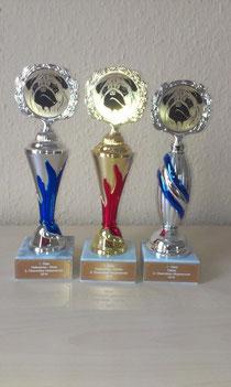 Die Siegerpokale 2014