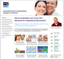 Spezielle Website mit mehr Informationen zum Thema Zahnimplantate