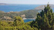Blick auf die Westküste von Skyros