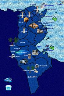 Mapa Túnez