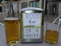 3.000km geknackt