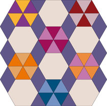 English Paper Piecing Hexagon Raute Diamond