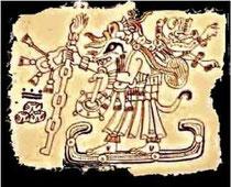 Tlakuache con miquixtli (muerte) en la espalda, codice dresde.