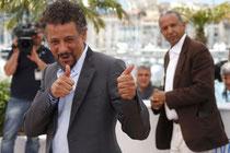 L'acteur Abel Jafri et son réalisateur Abderrahmane Sissako.  Photo: Reuters