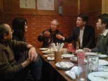 「千縁会」で熱く語りかける熊本さん