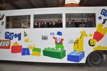 So sah der Karnevalswagen des Schützenvereins Anfang Februar aus...