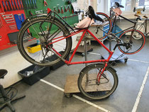 Fahrrad vorbereitet für den Einbau eines Pendix-Antriebes