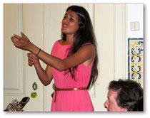 Die junge Fadosängerin Cuca Roseta begeisterte ihre Zuhörer