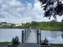 公園にある湖