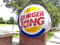 バーガーキングの巨大看板