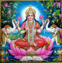 Lakshmi, Déesse Hindoue de la Fertilité, de la Prospérité et de l'Abondance
