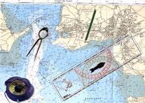 Carte marine pour la navigation côtière (territoire)