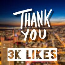 Danksagung für 3000 Likes auf der Facebook-Seite von Xplor Creativity