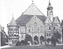 Hildesheimer Rathaus vor dem großen Umbau 1890.