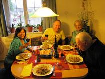 Abendessen bei Pfeifers