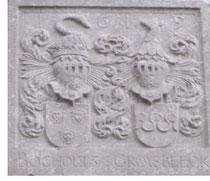 Armoiries de Godfroid de Bocholt à l'ancien château d'Oreye