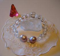天然レインボークォーツと本真珠のバロック。