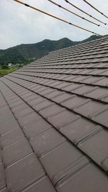 新築屋根工事 平板瓦 洋風瓦