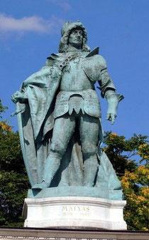 Mathias Corvinus' Statue in Budapest. Bildrechte: Andreas Pöschek