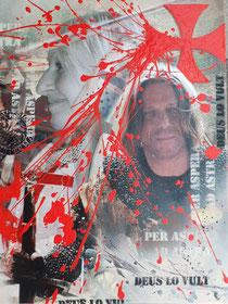 Collage als Fotodruck auf Leinwand