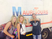 Janni Hönscheid arrived at Mauritius for a Chiemsee photoshoot