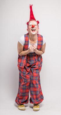 Clownin Popolina im Fasching