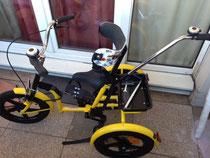 Adaptation d'une ceinture sur tricycle