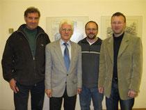 vlnr. Ing. Friedrich Kirchhofer, Heinrich Höbarth, Ferdinand Gaisberger, DI Norbert Hoheneder