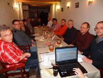 Die Gründungsmitglieder im Ratskeller Lichtenstein