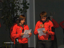 Die Jugendbergrettung bei der Präsentation