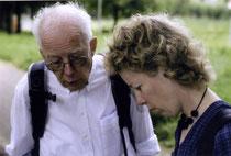 De heer Troelstra met zijn dochter.