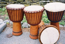 DrumConnection djembe built in Guinea