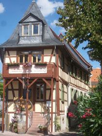 Das restaurierte Gerberhaus mit neuem AUfgang.