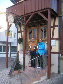 Bertold Baur mit Marie Frick