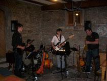Die Groove Gang bei Ihrem Auftritt im Gerberkeller von WeinBaur.