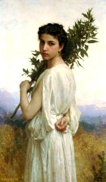 Tableau nymphéa Laurier Noble Laurus Nobilis 1900