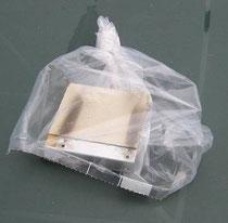 Astbestplatte aus einem Radiogerät
