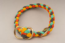 Halsband mit Zugstopp gelb/minze/anthrazit/orange