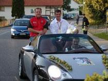 Eine große Zahl an Freunden, Bekannten, Mitbürger und Fans haben sich am Dienstagabend in Seibranz eingefunden, um Rekordweltmeister Gerd Riss zu feiern.