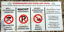 Verbotsschild am Fernsteinsee /Österreich