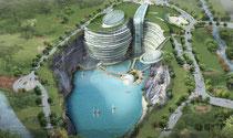 Groundscraper: Chinesen bauen tiefstes Hotel der Welt