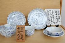 市之倉焼が認められ、宮内庁の要請で湯呑、取皿、飯器、蓋物、前菜皿を製造。