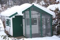 Voliere im Jänner 2013 - tiefverschneit