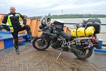 Auf der Donau-Fähre bei Galati