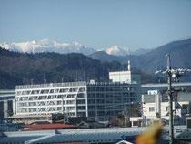 残雪のアルプス