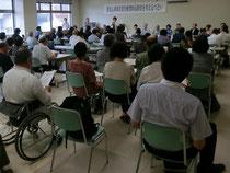 甲府市内で開催された「重度心身障害者医療費助成制度について考えるつどい」