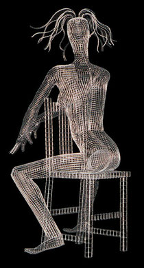 Amethyst. 2000. Wire mesh. 150 x 70 x 70cm. Private Collection. © Charles Rocco