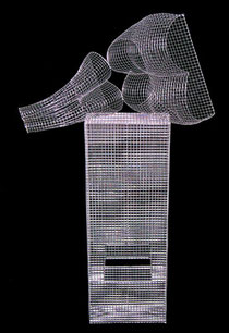 Reclining Nude. 2004. Wire mesh, river stones. 160 x 100 x 60cm. Private Collection. © Charles Rocco