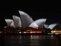 Das Sydney Opera House hat die Segel gesetzt